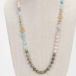 J. Jill Jewelry - J. Jill Dalmatian Stone Single-Strand Necklace